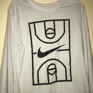 White Nike Basketball Tee